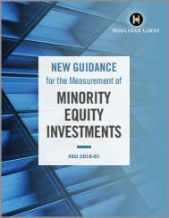 New guidance for the Measurement of Minority Equity Investments