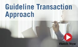 Guideline Transaction Approach