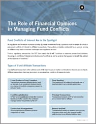 THE ROLE OF FINANCIAL OPINIONS IN MANAGING FUND CONFLICTS