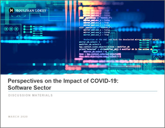 Perspectives on the Impact of COVID-19: Software Sector