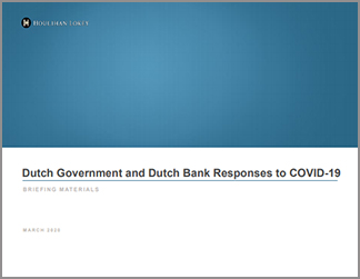 Dutch Government and Dutch Bank Responses to COVID-19