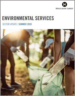 Environmental Services Sector Update – Summer 2020