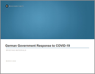 German Government Response to COVID-19