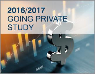 2016/2017 Going Private Transaction Study