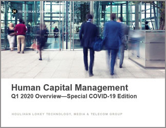 Human Capital Management Industry Updates | Q1 2020 Overview