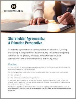 Shareholder Agreements: A Valuation Perspective