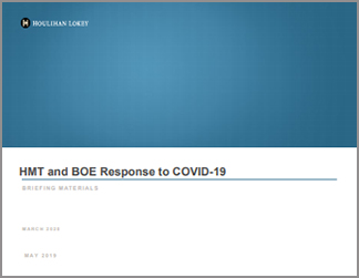 HMT and BOE Response to COVID-19